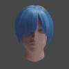 【Blender2.8X】パーティクルヘアーを使用した髪の毛の作成